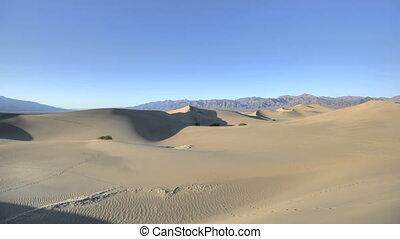 duinen, plat, zand, timelapse, mesquite