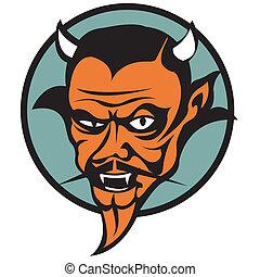 duivel, kunst, klem, kwaad, grafisch, satan