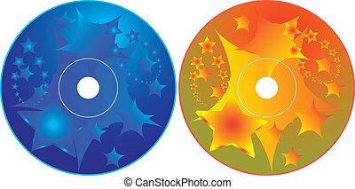 dvd, -, cd, ontwerp, mal, etiket