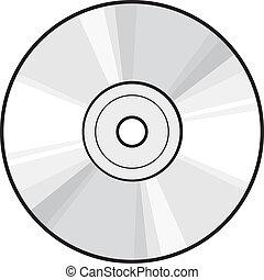 dvd, schijf, of, cd
