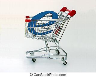 e-handel, shoppen , (side, kar, view)