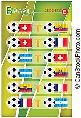 e, voetbal, groep, toernooi