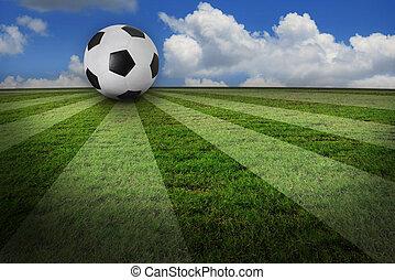 echte, creatief, voetbal, footb, foto