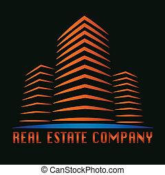 echte, gebouw, landgoed, logo