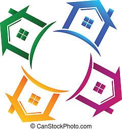 echte, huisen, 4, landgoed, logo