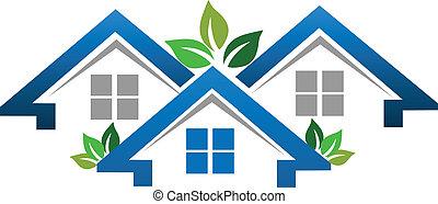 echte, huisen, bedrijf, landgoed, logo