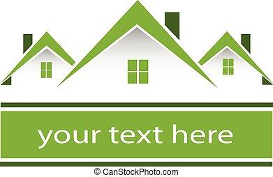 echte, huisen, groene, landgoed, logo