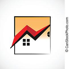 echte, huisen, ingelijst, landgoed, logo