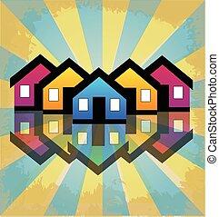 echte, huisen, rijtjeshuizen, landgoed, logo