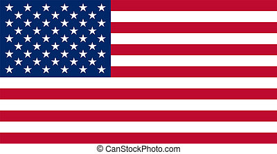 echte, kleur, vlag, amerikaan, usa