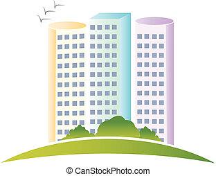 echte, logo, gebouwen, landgoed