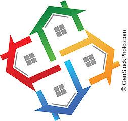 echte, logo, vector, landgoed