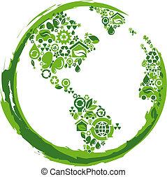 eco, -, 2, concept, planeet