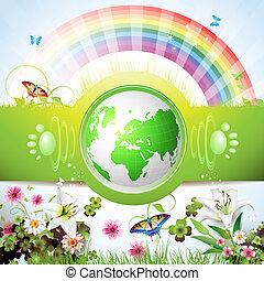 eco, aarde, groene