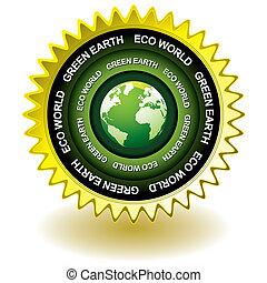 eco, aarde, groene, pictogram