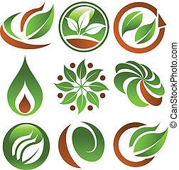 eco, groene, iconen