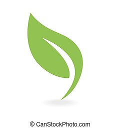 eco, pictogram, groen blad
