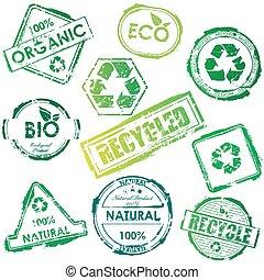 eco, postzegels, vector