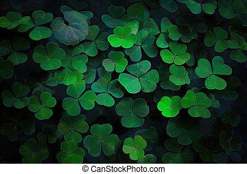 ecologie, leaves., groene, achtergrond., abstract, model, bladeren