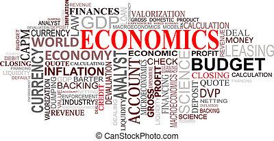 economie, wolk, markeringen