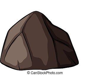 een, grijze , rots