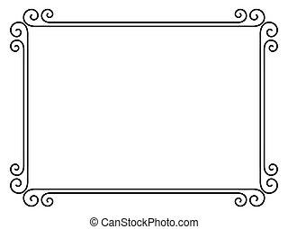 eenvoudig, decoratief, decoratief, frame