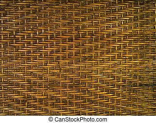 eenvoudig, patterned, bamboe, geweven