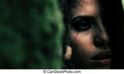 eenzaam, vrouw, verdrietige , dronken