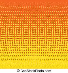 effect., illustratie, halftone, vector, achtergrond, sinaasappel