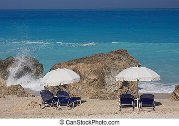 eiland, lefkas, strand, ionian, griekenland