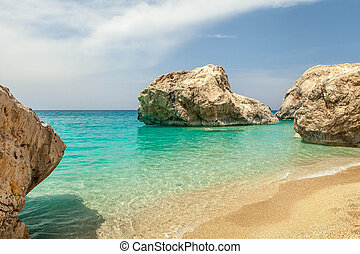 eiland, lefkas, strand, kathisma, griekenland