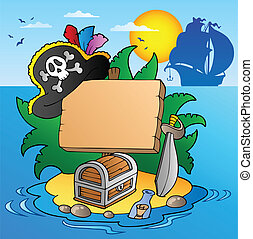 eiland, scheeps , plank, zeerover