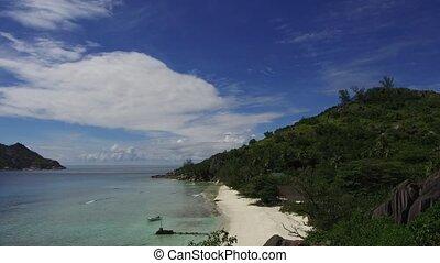 eiland, seychellen, strand, indische oceaan