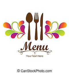 elegant, restaurant, kaart, menu