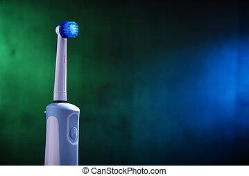 elektrisch, powered, batterij, moderne, tandenborstel, rechargeable
