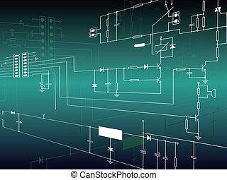 elektronica, circuit, achtergrond