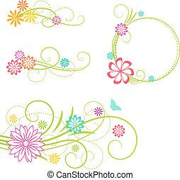 elements., floral ontwerpen