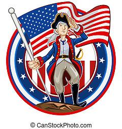 embleem, amerikaan, patriot
