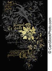 embleem, heraldisch, flores