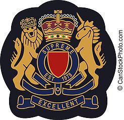 embleem, schild, badge, koninklijk