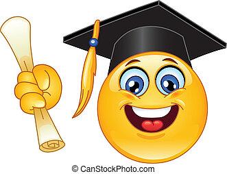 emoticon, afgestudeerd