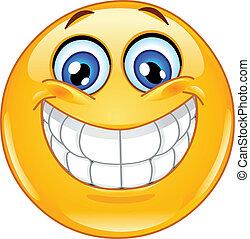 emoticon, grote glimlach