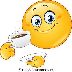 emoticon, koffie