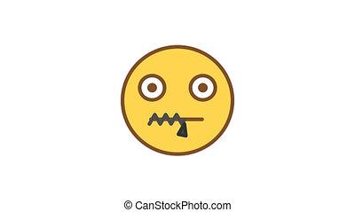 emoticons., emoticon, much., vaart, alfa, niet, geanimeerd, praatje