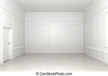 empty room, witte