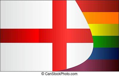 engeland, vlaggen, grunge, vrolijk