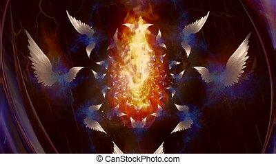 engelen, fractal, vleugels