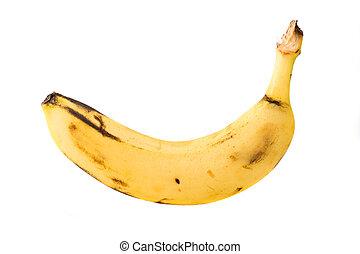 enkel, banaan, vrijstaand