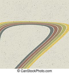 eps10, abstract, lijnen, achtergrond., vector, retro