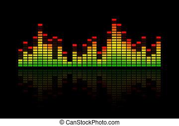 equalizer, staaf, muziek